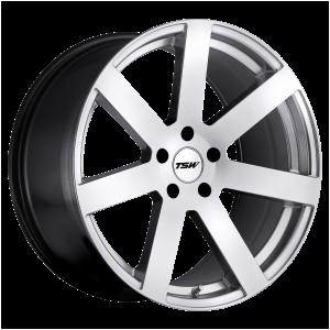 17x8 5x100 TSW Wheels Bardo Hyper Silver 35 offset 72.1 hub