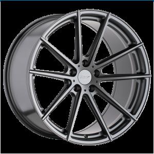 17x8 5x100 TSW Wheels Bathurst Gloss Gunmetal 35 offset 72.1 hub