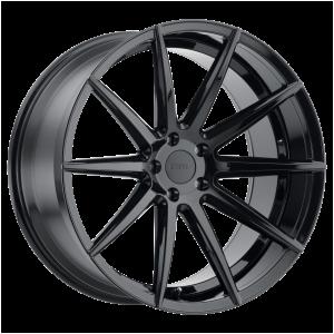 18x8.5 5x112 TSW Wheels Clypse Gloss Black 32 offset 66.56 hub