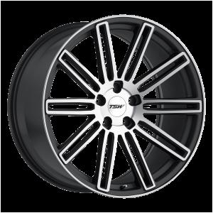 17x8 5x100 TSW Wheels Crowthorne Matte Gunmetal With Matte Machine Face 35 offset 72.1 hub