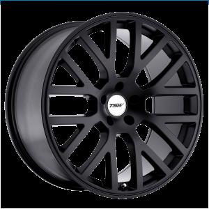 17x7 4x100 TSW Wheels Donington Matte Black 40 offset 72.1 hub
