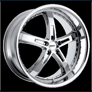17x8 5x100 TSW Wheels Jarama Chrome 35 offset 72.1 hub