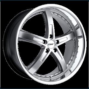 17x8 5x100 TSW Wheels Jarama Hyper Silver With Mirror Cut Lip 35 offset 72.1 hub