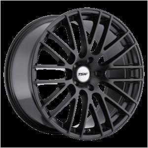 17x8 5x100 TSW Wheels Max Matte Black 35 offset 72.1 hub