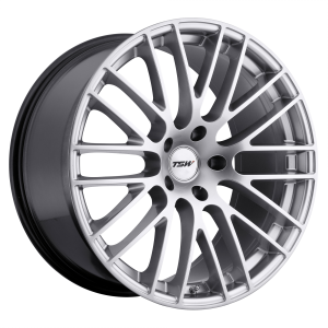 17x8 5x100 TSW Wheels Max Hyper Silver 35 offset 72.1 hub