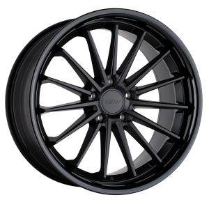 18x9.5 5x112 TSW Wheels Marina Matte Black With Gloss Black Lip 40 offset 66.56 hub