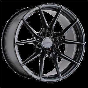 18x8 5x100 TSW Wheels Neptune Semi Gloss Black 35 offset 72.1 hub