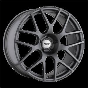 17x7.5 5x114.3 TSW Wheels Nurburgring Matte Gunmetal 45 offset 76.1 hub