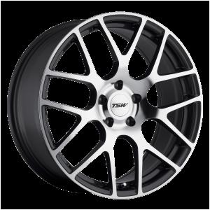 17x7.5 5x114.3 TSW Wheels Nurburgring Gunmetal With Mirror Cut Face 45 offset 76.1 hub