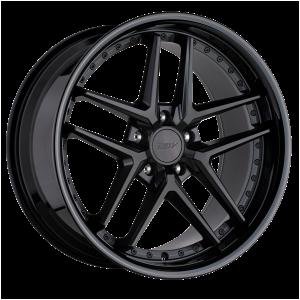 18x9.5 5x114.3 TSW Wheels Premio Matte Black With Gloss Black Lip 20 offset 76.1 hub