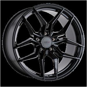 17x8 5x108 TSW Wheels Silvano Gloss Black 40 offset 76.1 hub
