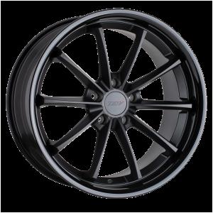 18x8.5 5x112 TSW Wheels Sweep Matte Black With Gloss Black Lip 32 offset 66.56 hub
