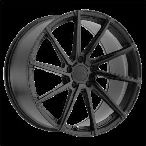 18x8.5 5x108 TSW Wheels Watkins Double Black - Matte Black With Gloss Black Face 42 offset 72.1 hub