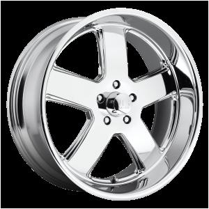 20x8 5x120.65 US Mag Wheels U116 Hustler Chrome Plated 1 offset 72.56 hub