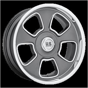 20x8 5x120.65/5x127 US Mag Wheels U125 Boulevard Matte Gun Metal 1 offset 78 hub