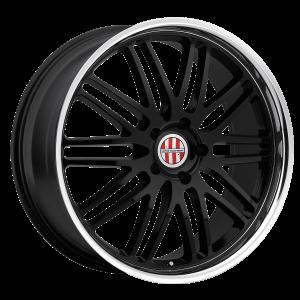 18x11 5x130 Victor Equipment Wheels Lemans Gloss Black With Mirror Cut Lip 36 offset 71.5 hub