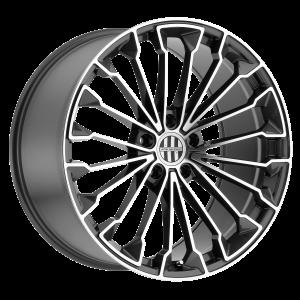 18x10 5x130 Victor Equipment Wheels Wurttemburg Gunmetal With Mirror Cut Face 50 offset 71.5 hub