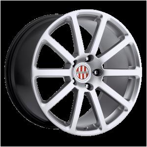 18x11 5x130 Victor Equipment Wheels Zehn Hyper Silver 36 offset 71.5 hub