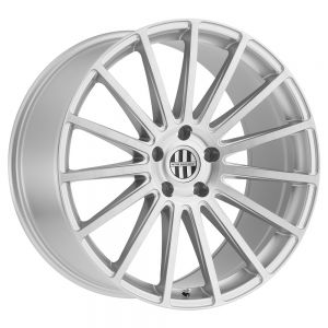 18x10 5x130 Victor Equipment Wheels Sascha Silver With Brushed Machined Face 50 offset 71.5 hub