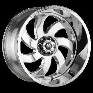 20x10 Off Road Monster Wheels M07 5x127 -44 ET 78.1 hub - Chrome