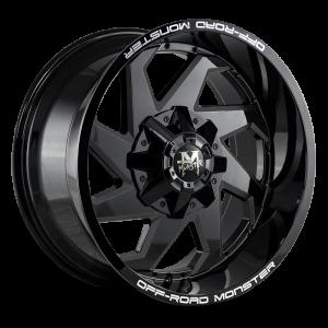 20x10 Off Road Monster Wheels M09 6x135 -44 ET 106.4 hub - All Gloss Black
