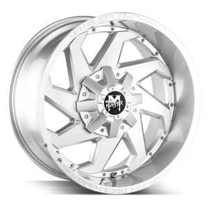 20x10 Off Road Monster Wheels M09 6x135 -19 ET 106.4 hub - Brushed Face Silver