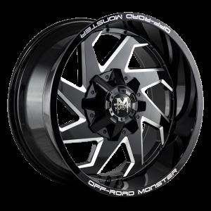 20x10 Off Road Monster Wheels M09 5x114.3 -19 ET 78.1 hub - Flat Black Milled
