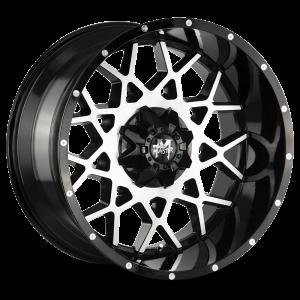 20x10 Off Road Monster Wheels M14 5x127 -19 ET 78.1 hub - Gloss Black Machined
