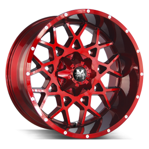 22x12 Off Road Monster Wheels M14 6x135 -44 ET 106.4 hub - Candy Red Milled