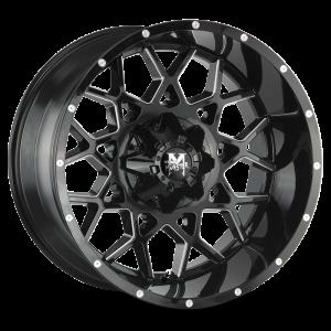 22x12 Off Road Monster Wheels M14 5x127 -44 ET 0 hub - Gloss Black Milled