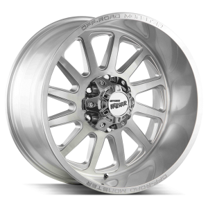 17x9 Off Road Monster Wheels M17 5x127 -19 ET 78.1 hub - Brushed Face Silver