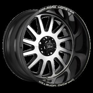 17x9 Off Road Monster Wheels M17 5x127 -19 ET 78.1 hub - Gloss Black Machined