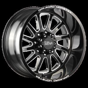 17x9 Off Road Monster Wheels M17 5x114.3 -19 ET 78.1 hub - Gloss Black Milled