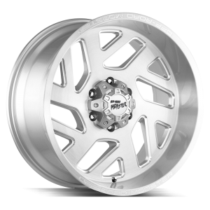 20x10 Off Road Monster Wheels M19 6x139.7 -19 ET 106.4 hub - Brushed Silver Milled
