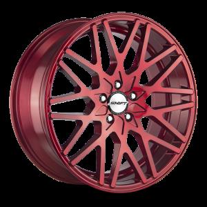 18x8 Shift Wheels Formula 5x100 30 ET 73.1 hub - Candy Red