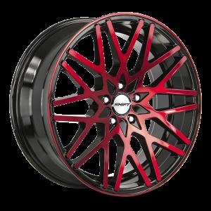 18x8 Shift Wheels Formula 5x100 30 ET 73.1 hub - Gloss Black Candy Red Machine