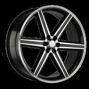 20x8.5 Strada OE Replica Wheels Iroc 5x114.3 40 ET 72.6 hub - Gloss Black Machined