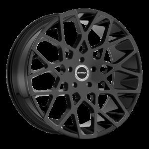 22x9.5 Strada Wheels Buca 5x115 35 ET 72.6 hub - All Gloss Black