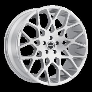 22x9.5 Strada Wheels Buca 5x115 35 ET 72.6 hub - Brushed Face Silver