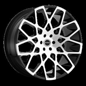 22x9.5 Strada Wheels Buca 5x115 35 ET 72.6 hub - Gloss Black Machined