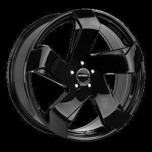 20x8.5 Strada Wheels Coltello 5x112 40 ET 72.6 hub - All Gloss Black