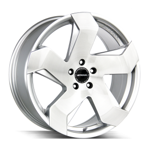20x8.5 Strada Wheels Coltello 5x112 40 ET 72.6 hub - Brushed Face Silver