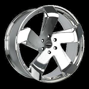 20x8.5 Strada Wheels Coltello 5x112 40 ET 72.6 hub - Chrome