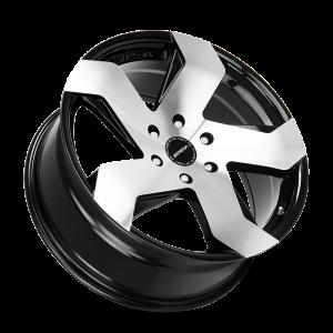 20x8.5 Strada Wheels Coltello 5x112 40 ET 72.6 hub - Gloss Black Machined