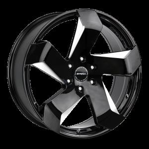 20x8.5 Strada Wheels Coltello 5x112 40 ET 72.6 hub - Gloss Black Milled