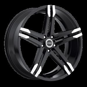 20x8.5 Strada Wheels Domani 5x108 25 ET 72.6 hub - Gloss Black Machined