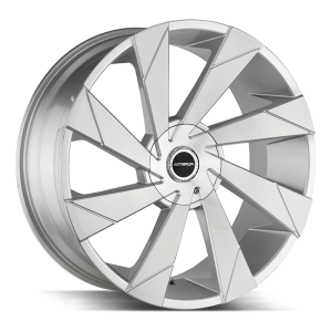 20x8.5 Strada Wheels Moto 5x108 40 ET 74.1 hub - Brushed Face Silver