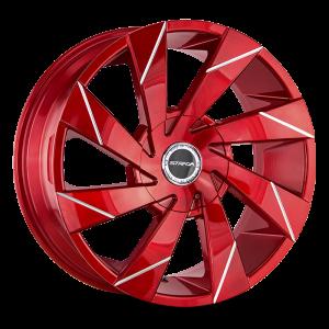 20x8.5 Strada Wheels Moto 5x114.3 35 ET 74.1 hub - Candy Red