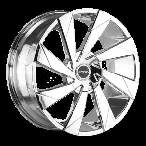 20x8.5 Strada Wheels Moto 5x100 35 ET 74.1 hub - Chrome