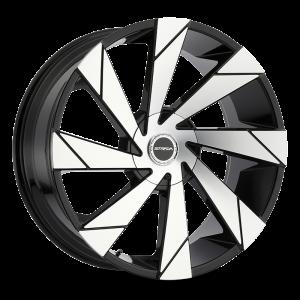 20x8.5 Strada Wheels Moto 5x100 35 ET 74.1 hub - Gloss Black Machined
